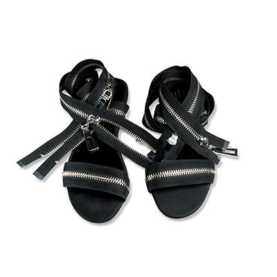 Zip sandal